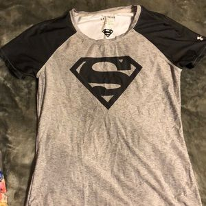 Superwoman  spandex workout shirt heatgear